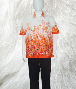 Classic Shirt in Orange print
