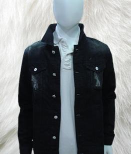 Jean Jacket In Ripped Black